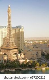 Las Vegas,NV Oct 08 2016:Paris Las Vegas hotel and casino. Its theme is the city of Paris in France; it includes a 5/8ths scale, (164.6 m) replica of the Eiffel Tower.
