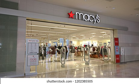 Las Vegas,NV/USA - 16 Sep 2018: Macy's Department Store. Macy's Inc. is one of the Nation's Premier omnichannel Retailers VIII