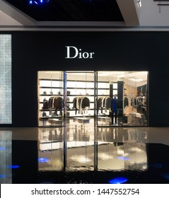 Las Vegas,NV/USA - 6.27.19: Exterior of Christian Dior store at Crystals,Aria in Vegas, founded in 1946, a French luxury goods company controlled & chaired by French businessman Bernard Arnault.