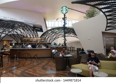 Las Vegas,NV/USA - 6.27.19:  Starbucks flagship concept location at the shops, Crystals is 2,861-square-foot and has room for 132 customers in which the names of future coffee choices are offered.