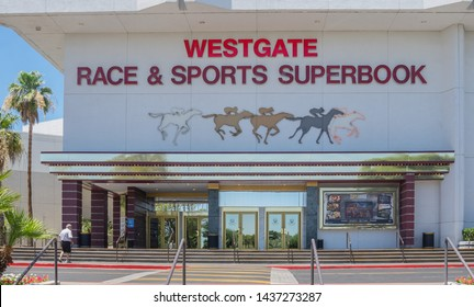 Las Vegas,NV/USA - 6.27.19  The Westgate opened in 1969 as the International Hotel.  The newly renovated sports book, has the world's largest indoor LED video wall with 4,488 square feet of HD video.