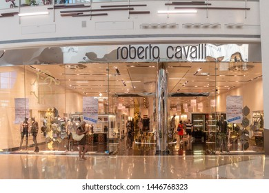 Las Vegas/NV/USA - 7.27.19 Roberto Cavalli  Store at The Crystals in Las Vegas; born on 15.11.1940, an Italian fashion designer known for exotic prints and known for the sand-blasted jeans style.