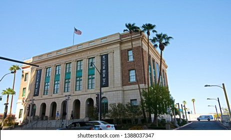 Las Vegas,NV/USA - Sep 15, 2018 : Mob Museum building. The Mob Museum is a history museum located in Downtown Las Vegas.