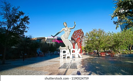 LAS VEGAS,NV/USA - Sep 15,2018 : Entrance of the Park at the T-Mobile Arena in Las Vegas.