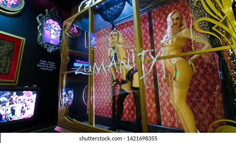 LAS VEGAS,NV/USA - Sep 15,2018:Headliner Marquee of the Zumanity show of Cirque du Soleil on New York New York casino and resort Hotel in Las Vegas, USA.