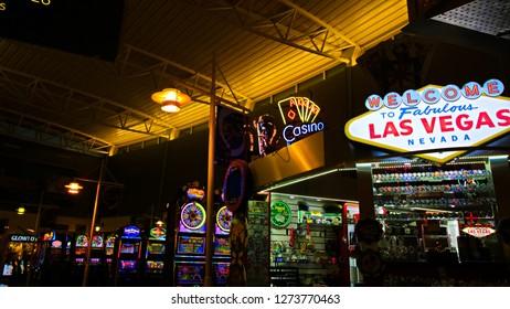 Las Vegas,NV/USA - Sep 21, 2018:  Souvenir shop in the McCarran International Airport, Las Vegas Valley, U.S. state of Nevada - Image.