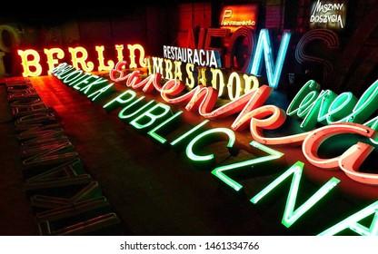 Las Vegas/United States-07/21/2019 photo from Neon Museum in Las Vegas