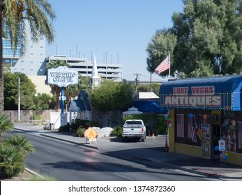 Las Vegas/USA - October 13 2017: Graceland Wedding Chapel. Las Vegas is famous for its mega casino–hotels and associated activities.