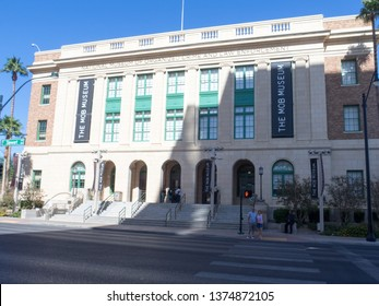 Las Vegas/USA - October 14 2017: Mob Museum building. The Mob Museum is a history museum located in Downtown Las Vegas