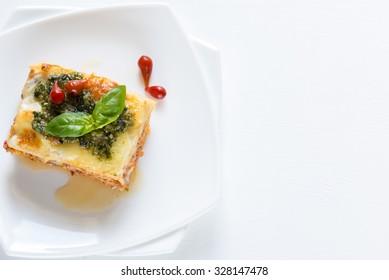 Lasagna with pesto