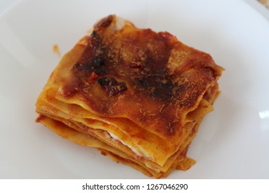 lasagne on plate from italy