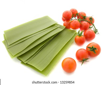 Lasagne sheets with  tomatoes