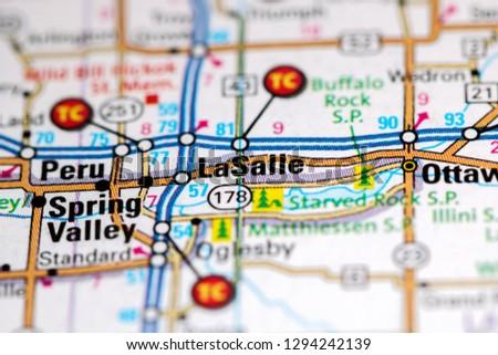La Salle Illinois Usa On Map Stock Photo Edit Now 1294242139