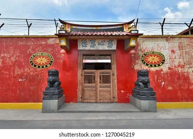 Lasem, Central Java, Indonesia - November 17, 2018: Old chinese house in Lasem city, nicknamed Little China, Central Java, Indonesia.