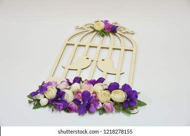 Laser cut wooden bird house, wedding, engagement, promise and henna decorative items for special occasions such as