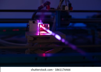 Laser development system in optical laboratory. Study of lasers  the science lab optical testing - Shutterstock ID 1861176466