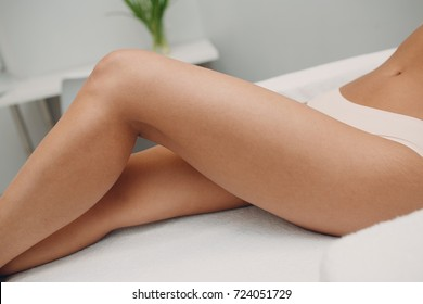 Laser epilation, sugaring and cosmetology. Hair removal cosmetology procedure. Laser epilation and cosmetology. Cosmetology and SPA concept.