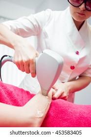 Laser hair removal. Cosmetic medicine.