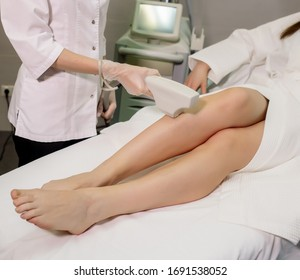 Laser hair removal in a cosmetology clinic