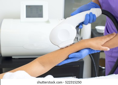 Laser hair removal on ladies hand