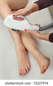 Laser hair removal in professional studio.
