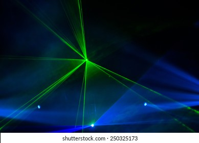 Laser light in dark night