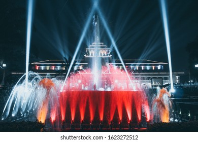 laser light from gedung sate bandung west java