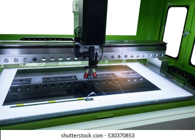 Laser machine tool at chip industrial manufacture factory