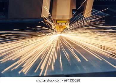 Laser or plasma cutting technology of flat sheet metal.