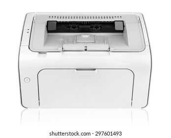 Laser printed isolated on white background.
