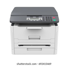 Laser Printer Isolated. 3D rendering