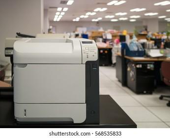 laser printer in office