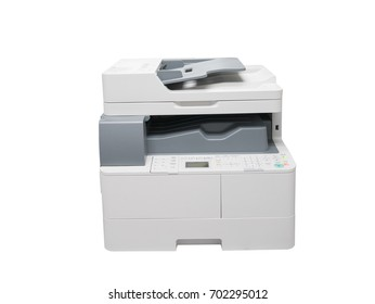laser printer on isolate white background with clipping path
