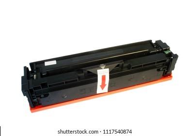 Laser printer toner cartridge at the white background