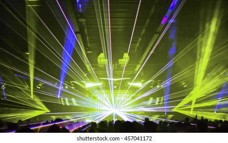 Laser show at a Nightclub music event