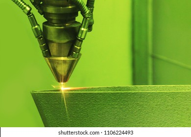 Laser sintering machine for metal. Metal is sintered under the action of laser into shape. DMLS, SLM, SLS. Modern additive technologies 4.0 industrial revolution