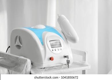 Laser tattoo removal machine in salon