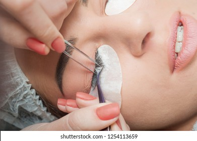 Lashmaker. Woman's lashes extension. special cosmetic face stickers.