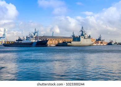 Las-Palmas de Gran Canaria, Spain, on January 5, 2018. The ships are moored in Las Palmas de Gran Canaria port