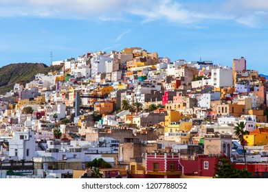 Las-Palmas de Gran Canaria, Spain, on January 10, 2018. A beautiful view of the city from the survey platform of a cathedral