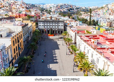 Las-Palmas de Gran Canaria, Spain, on January 10, 2018. The beautiful top view on the area of a cathedral