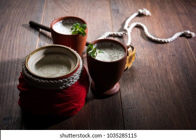 lassie or lassi  is an Authentic Indian cold drink made up of curd and milk and sugar