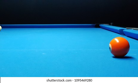 the last ball on the billiards table