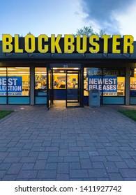 Last blockbuster video store. Bend, Oregon. May 24, 2019