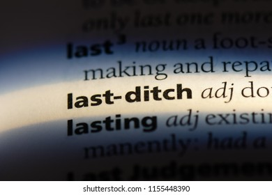last ditch word in a dictionary. last ditch concept.