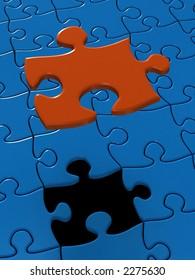 Last lack piece of Puzzle (3D)