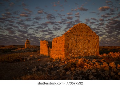 Last light at the Dalhousie ruins on the edge of the Simpson Desert Australia