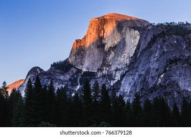 Last Light on Half Dome, Yosemite National Park, California