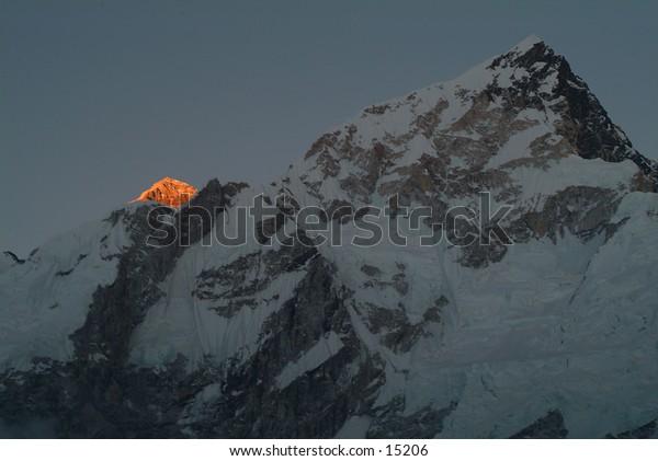 Last Light on Mount Everest - Nepal