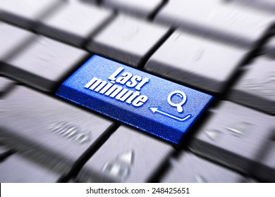 Last minute button on the computer keyboard
